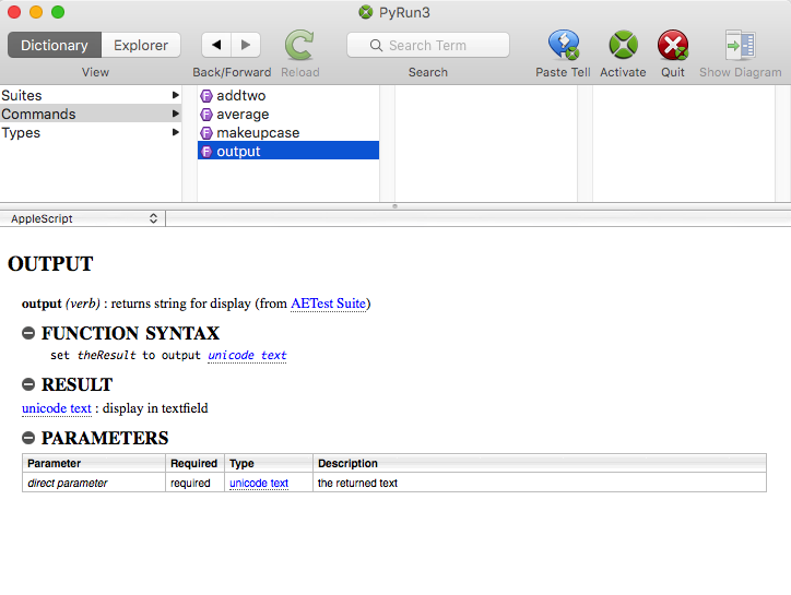 XOJO GUI's for AppleScript & Python – chapter 3 : Shell scripts